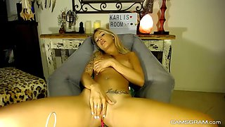 stunning blonde filmed herself while seducing you
