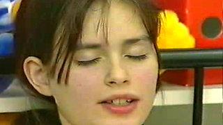 Beautiful teen slut Sandra masturbates to orgasm