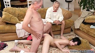 Young old gangbang rough first time Frannkie goes and eats her fuckbox and ass before she