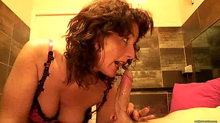 Dude called Bruno from Italy pays a curly brunette slut to get a blowjob