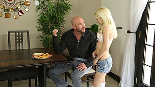 He hires a babysitter that is so hot he can't help but fuck her