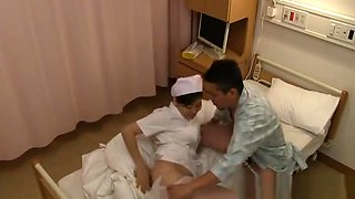 Curvy Japanese babe is a wild nurse for hard cock