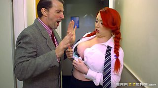 She violates the office dress code and gets fucked for punishment