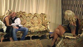 Simony Diamond and Jarushka Ross seduce a fellow for a threesome