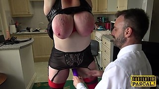 Chubby british slut fucked in bdsm action