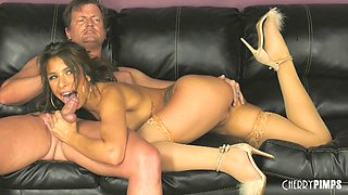 Carmen Caliente enjoys exposing her hot body and being on a dick