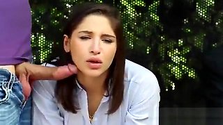 Abella Danger gets fucked and facialized at the bus stop - H