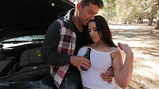 Slutty Angela White having her pussy ravaged by Ramon Nomar