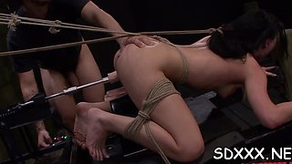 rough sex for roped chick clip segment 1