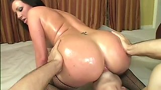 Big Ass Slut Gets Oiled And Fucked. Part 2