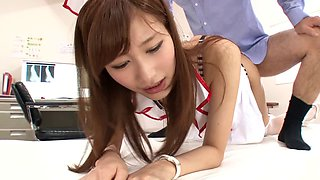 Flamboyant Japanese nurse is penetrated in the most passionate way