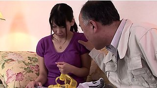 Curvaceous brunette housewife Chihiro Kitagawa gets new lingerie
