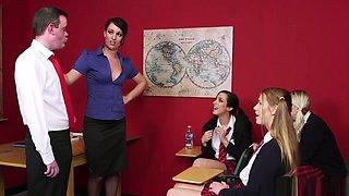Cfnm Teacher Jerks Losers