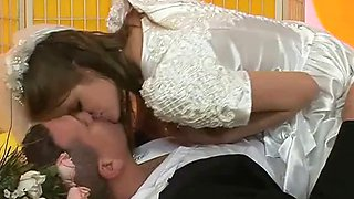 Euro bride in a dress assfucked