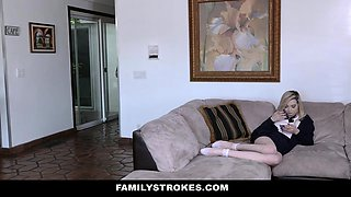 FamilyStrokes - Hot Milf Caught Daughter Fucking Stepdad