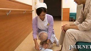 Oriental nurse enjoys sex with a patient in eager xxx