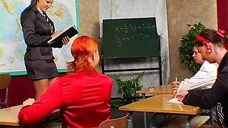 Satin girl abused in class