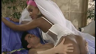 African bride loves getting pussy filled before wedding