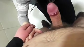 sucked in the office toilet