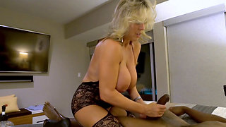 Hot blond wife enjoys a big black cock