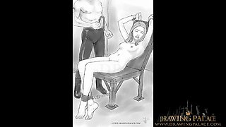 drawingpalace.com - extreme rough fetish drawing with bdsm