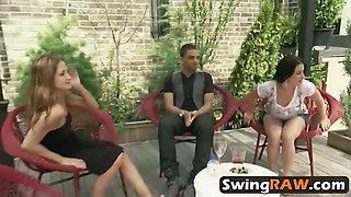 couples having fun in crazy swinger fuck party
