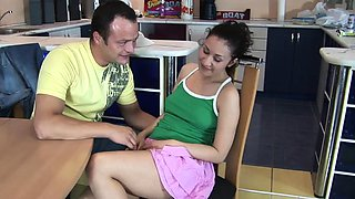Hot babe gets fucked by her man