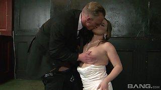 Magnificent cheating bride Olga Cabaeva getting fucked rough