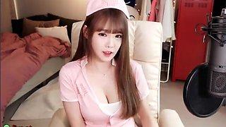 Korean most cute teen in nurse uniform