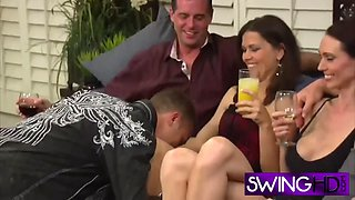 swinger party becomes big orgy