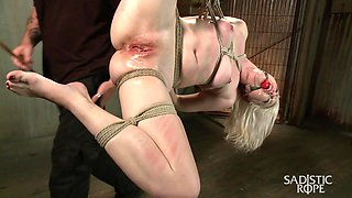 Ella Nova in Young Blond In Extreme Bondage  - SadisticRope