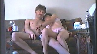 Drunk mature Swiss wife jerks me off after I suck her tits