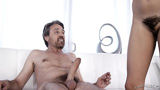 Julie Kay's hairy cunt is all a mature man wants to plow