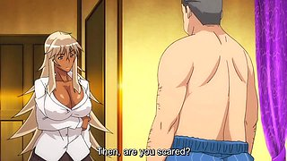 A blonde milf with huge tits is teasing and seducing in this hentai adventure