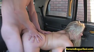 Bigtits taxi milf banged from behind