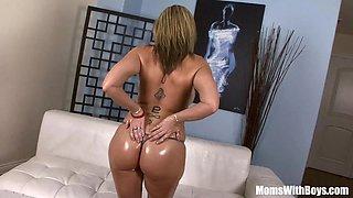 Oiled-Up Blonde MILF Sara Jay Fucking Black Cock