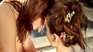 Beautiful Erotic Lezbian Lust On Display