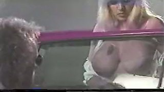Stunning classic white chicks with big breasts fuck by the pool