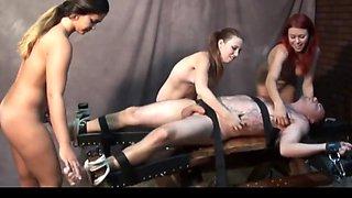 Handjob tickling  3 mistress