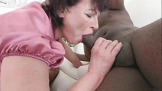 Granny BBC Threesome