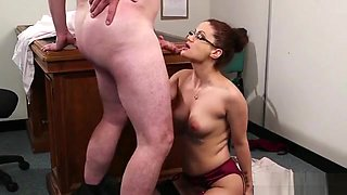Spicy Honey Gets Jizz Shot On Her Face Swallowing All The Cu