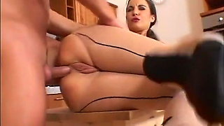 Seamed tights anal - She loves it!