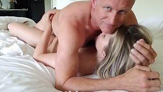 Hot blonde milf has multiple orgasms