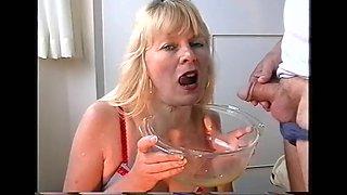 Mature homemade piss and cum