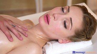 masseur teases a sensitive clit