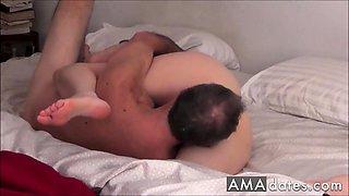 Passionate mature amateur couple 69 and fuck