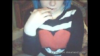 Emo plumper on webcam