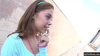 Pretty 18yearold Latina, Gigi Rivera, trades sex for ice cream