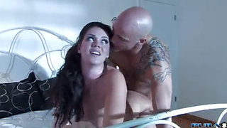 Busty MILF Alison rides a hard cock