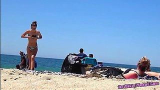 Super Sexy Ass Thongs Bikini teens Beach Voyeur HD Spy Video